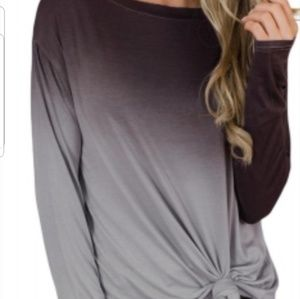 Brown Ombre long sleeve